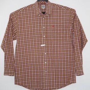 Cinch Men's Western Plaid Long Sleeve Shirt Size L